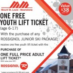 Buy NEW Rossignol Gear and get a FREE lift ticket at Mount St Louis Moonstone!