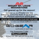 Mount St. Louis has partnered with GoGear.ca to get you geared up for the season!