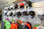 Helmet Sale in the Mount St Louis Boutique